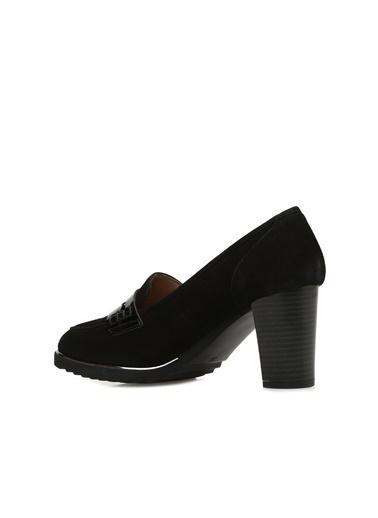 Divarese 5023888 Süet Kadın Stiletto Siyah